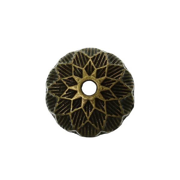 PS1141358 PAX 25 cônes coupelles embouts Art Deco metal couleur BRONZE - Photo n°2