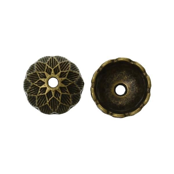 PS1141358 PAX 25 cônes coupelles embouts Art Deco metal couleur BRONZE - Photo n°1