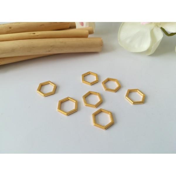 Connecteurs octogonal 10 mm doré x 10 - Photo n°1
