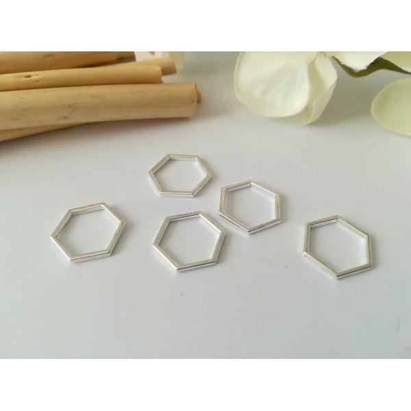 Connecteurs octogonal 17 x 15 mm argenté x 10 - Photo n°1