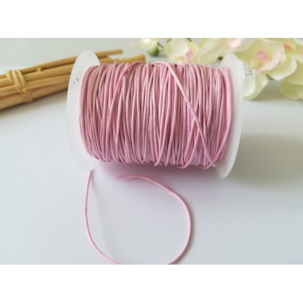 Fil coton ciré rose 1 mm x 2 m - Photo n°2