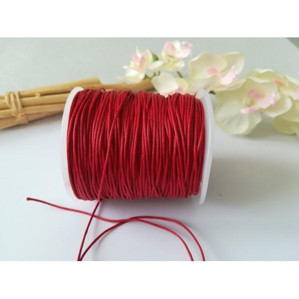 Fil coton ciré rouge 1 mm x 5 m - Photo n°2