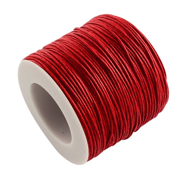 Fil coton ciré rouge 1 mm x 5 m - Photo n°1