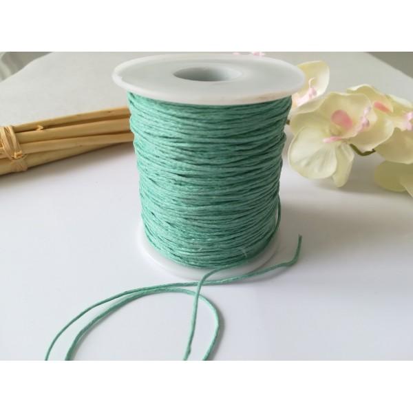 Fil coton ciré vert d'eau 1 mm x 5 m - Photo n°2