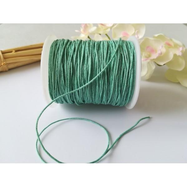 Fil coton ciré vert d'eau 1 mm x 5 m - Photo n°1