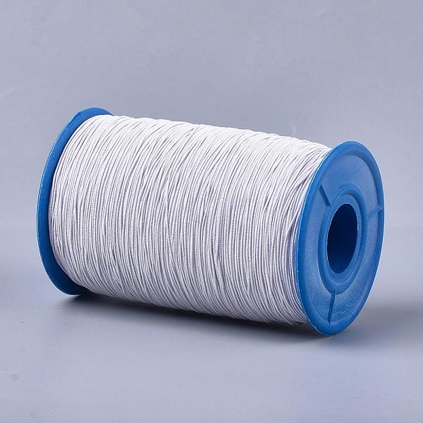Fil élastique blanc 0.6 mm x 5 m - Photo n°1