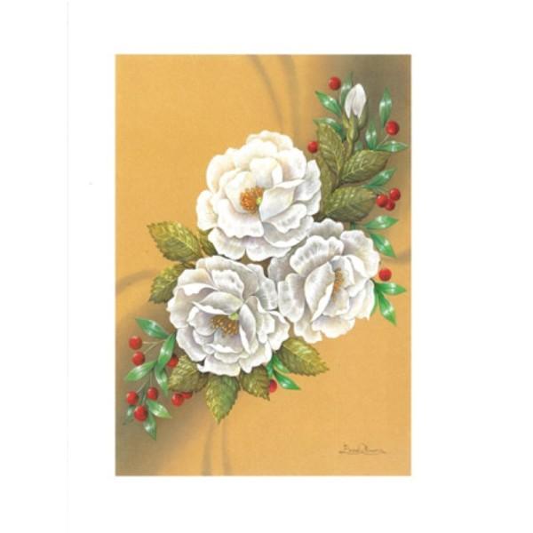Image 3D - astro 262 - 24x30 - 3 Fleurs et baies rouge - Photo n°1