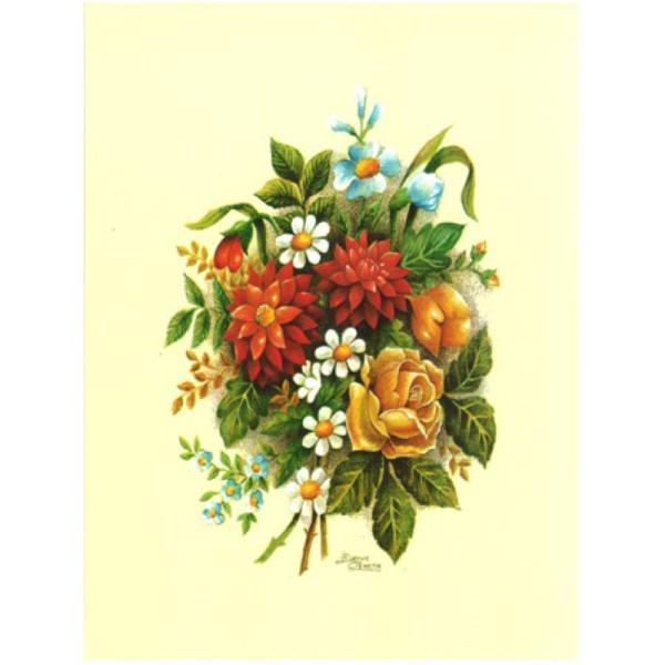 Image 3D vem 11 - 24x30 - bouquet rouge et jaune - Photo n°1