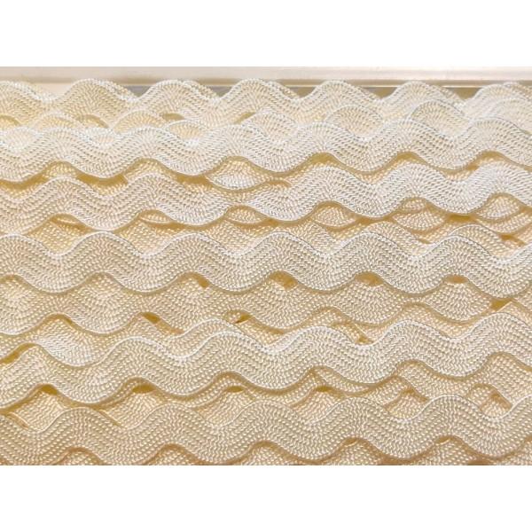 2M ruban croquet serpentine – jaune clair - polycoton – 5mm – b02 - Photo n°1