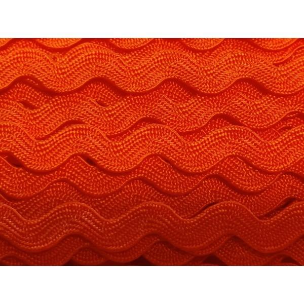 2M ruban croquet serpentine – orange - polycoton – 5mm – b15 - Photo n°1