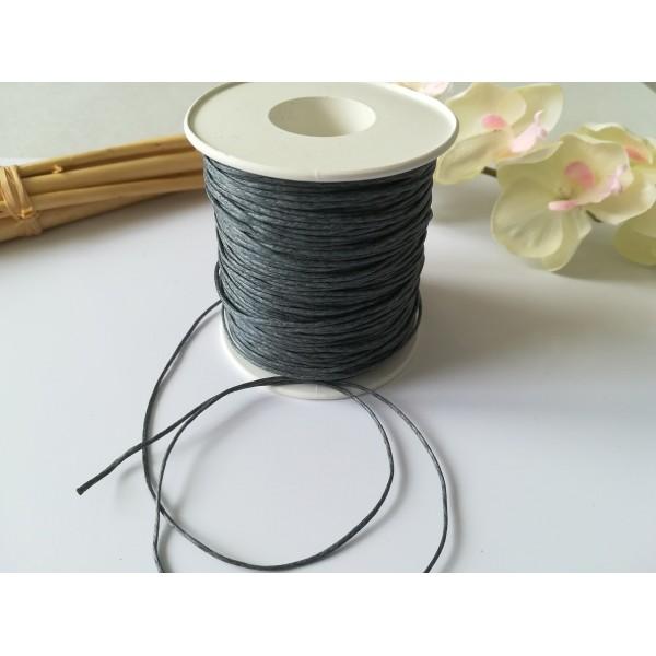 Fil coton ciré gris foncé 1 mm x 5 m - Photo n°2