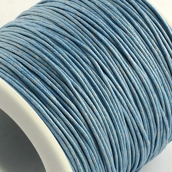 Fil coton ciré bleu acier 1 mm x 5 m - Photo n°2