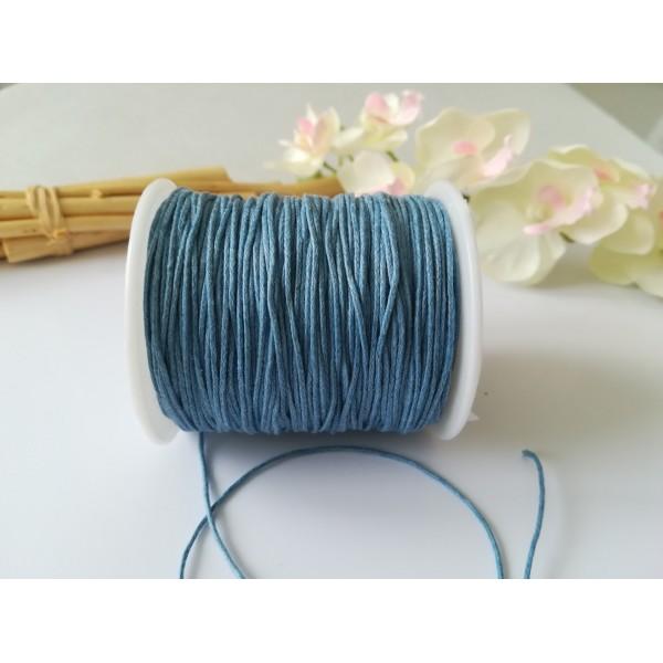 Fil coton ciré bleu acier 1 mm x 5 m - Photo n°3