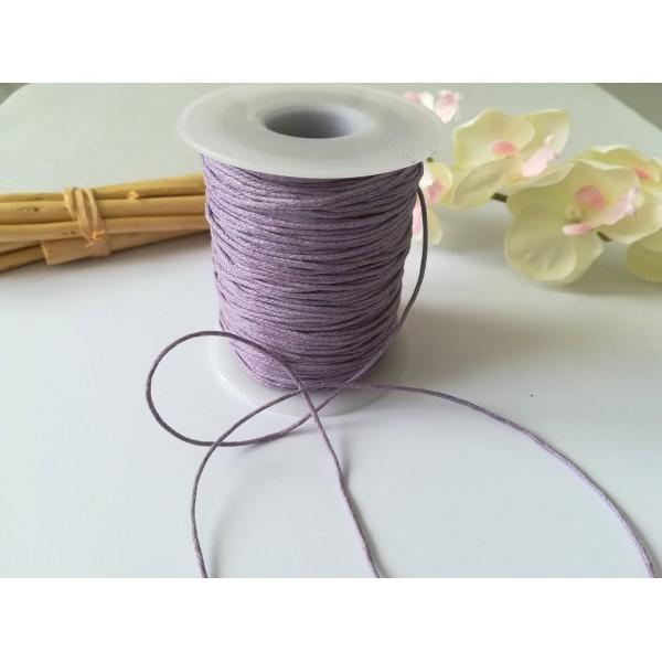 Fil coton ciré lilas 1 mm x 5 m - Photo n°2