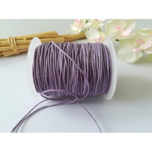 Fil coton ciré lilas 1 mm x 5 m - Photo n°1