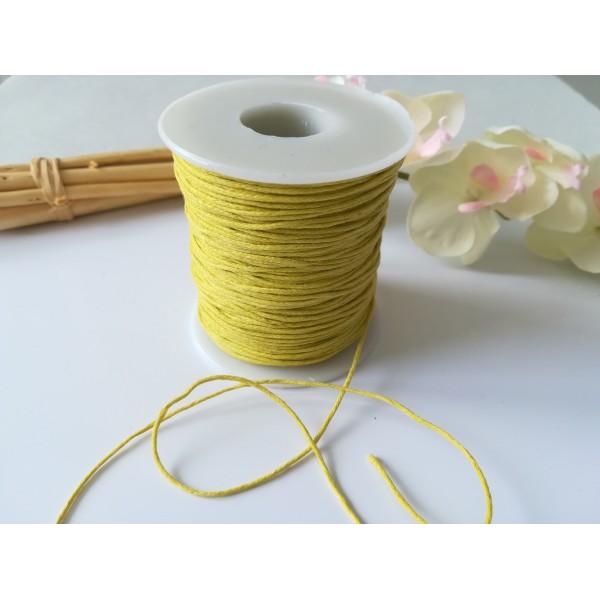 Fil coton ciré jaune 1 mm x 2 m - Photo n°2