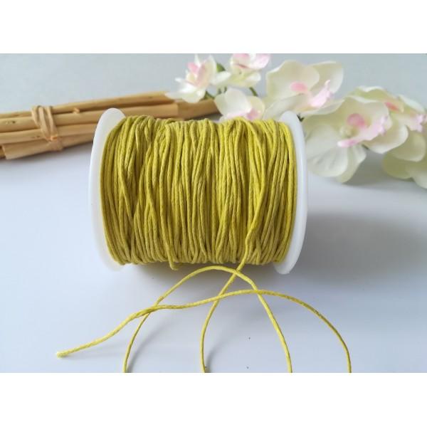 Fil coton ciré jaune 1 mm x 2 m - Photo n°1