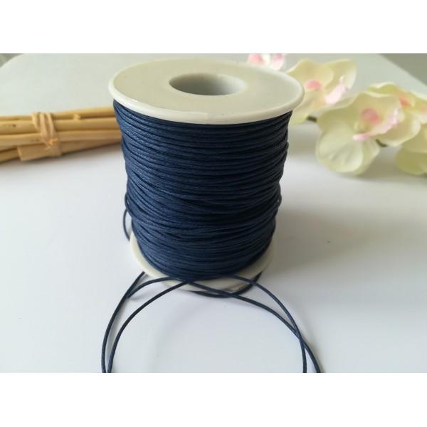 Fil coton ciré bleu marine 1 mm x 2 m - Photo n°2