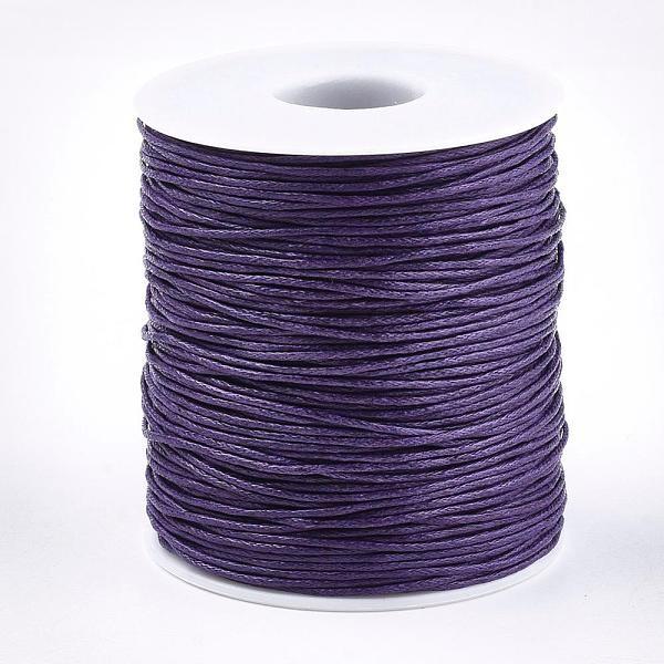 Fil coton ciré violet 1 mm x 2 m - Photo n°2