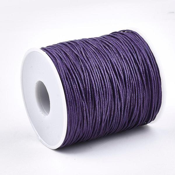 Fil coton ciré violet 1 mm x 2 m - Photo n°1