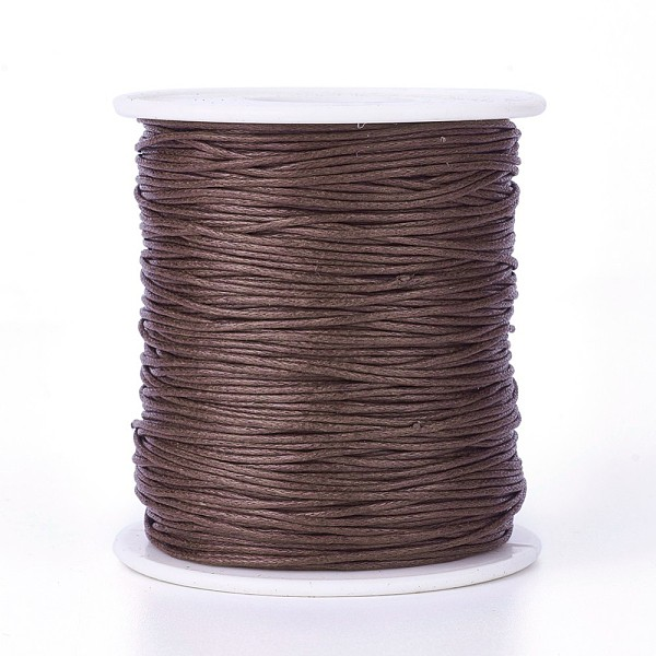 Fil coton ciré marron 1 mm x 5 m - Photo n°2