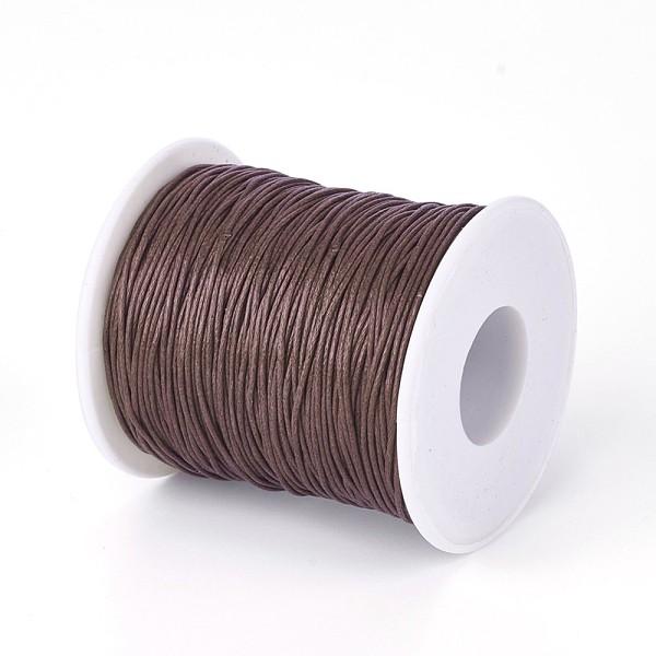 Fil coton ciré marron 1 mm x 5 m - Photo n°1