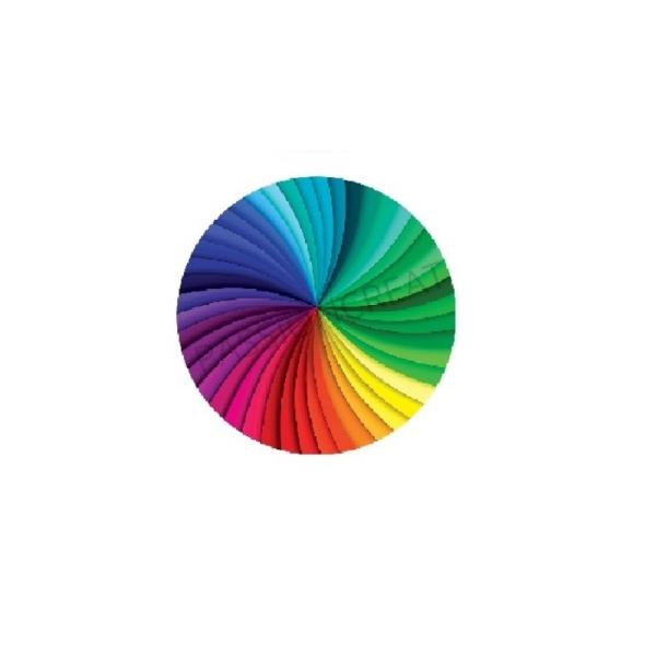 Spiral - Tourbillon 2 Cabochons Multicolore 18mm - Photo n°1