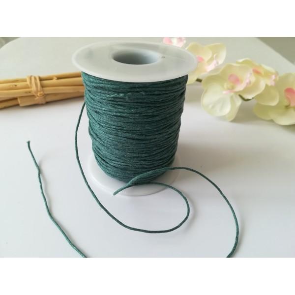 Fil coton ciré turquoise 1 mm x 5 m - Photo n°2