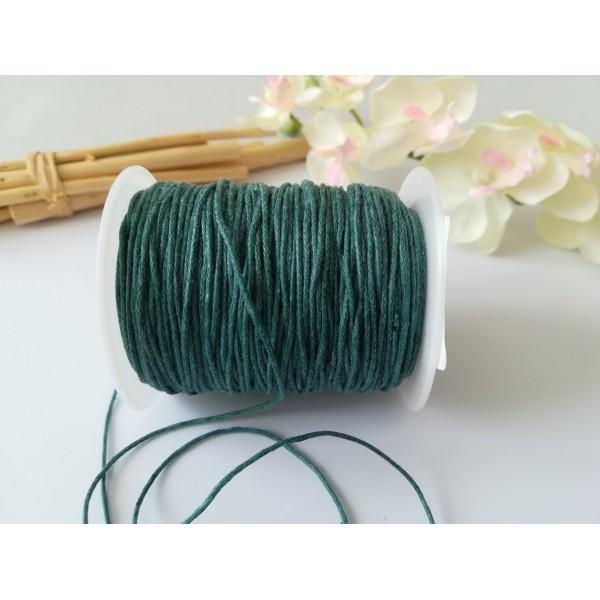 Fil coton ciré turquoise 1 mm x 5 m - Photo n°1
