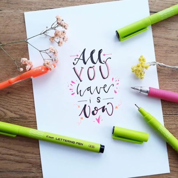 Feutre d'écriture et calligraphie - Lettering Pen 10 - Pointe Fine - Plusieurs coloris - Photo n°2