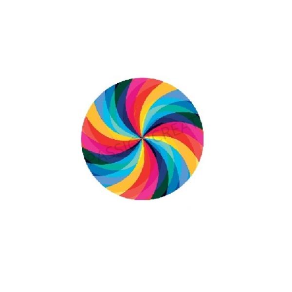 Spiral - Tourbillon 2 Cabochons Multicolore 20mm - Photo n°1