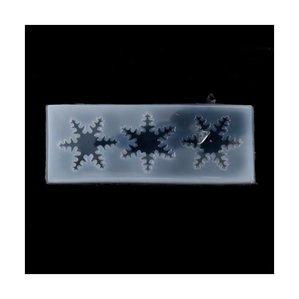 S119422 PAX 2 Moules en Silicone Etoiles de Neige Noel pour Creation Fimo Cernit Resine - Photo n°1
