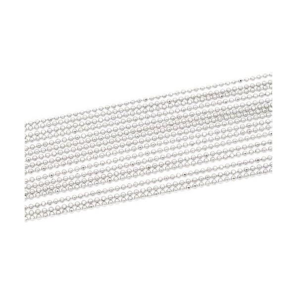 PS1110433 PAX 5 mètres Chaine Bille fine 1.5mm Cuivre couleur Argent Platine - Photo n°1