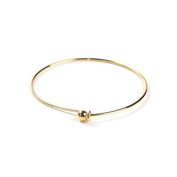 PS110095581 PAX 1 Bracelet Jonc avec boule cuivre coloris DORE 6.5cm - Photo n°1