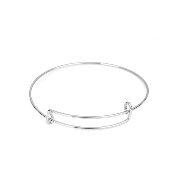 PS110212193 PAX: 4 Supports de Bracelet en ACIER INOXYDABLE 304 - Photo n°1