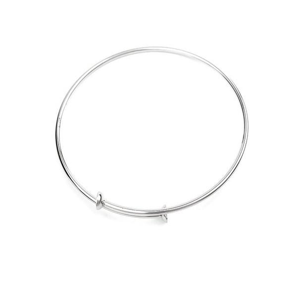 S110234271 PAX: 1 Support de Bracelet Jonc pour perles en ACIER INOXYDABLE 304 - Photo n°3