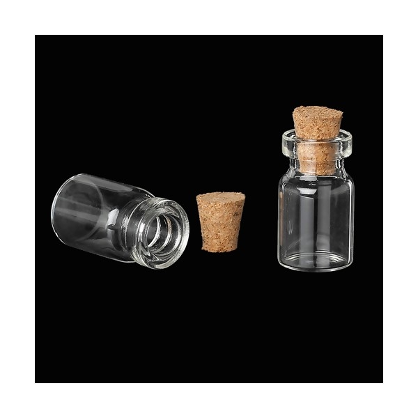 PS1156883 PAX de 10 pieces flacon mini fiole en verre 24 par 11 mm - Photo n°2