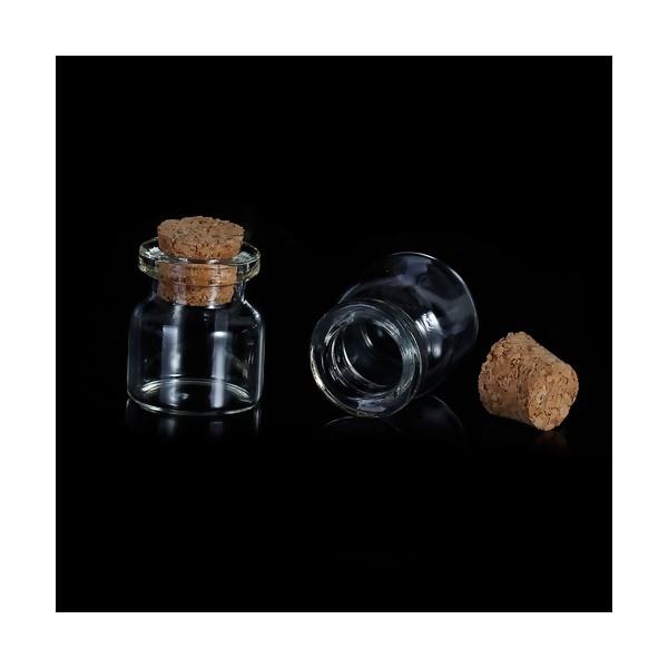 S1179406 PAX 10 pieces flacon fiole en verre 25mm par 22mm - Photo n°1