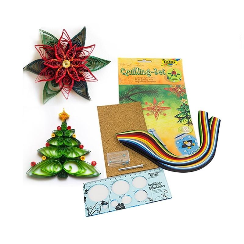 nouveaux produits pour section spéciale choisir l'original Set de Bandelettes papier quilling, Période de Noël, 290 pièces, et  accessoires - Papier quilling - Creavea