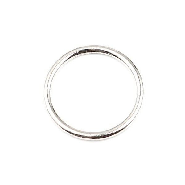 PS11657664 PAX 25 pendentifs Anneaux Connecteur fermé rond 19mm métal couleur Argent Platine - Photo n°1