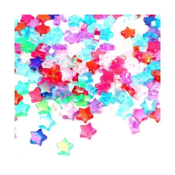 PS110259805 PAX 100 Etoiles acrylique multicolores 11 par 10 mm - Photo n°1