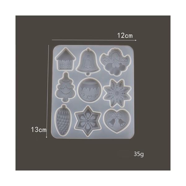 S11655791 PAX 1 Moule en Silicone Noel 13 par 12 cm pour Creation Fimo Cernit Resine - Photo n°2