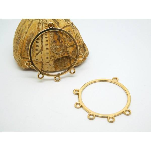 2 Chandeliers, connecteurs ronds 33*31mm doré - Photo n°1