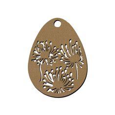 Forme Oeuf en bois à décorer - Pissenlits - 7 cm