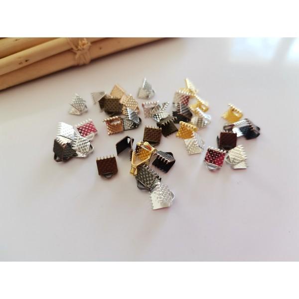Embouts ruban à griffes 6 mm multicolore x 20 - Photo n°1