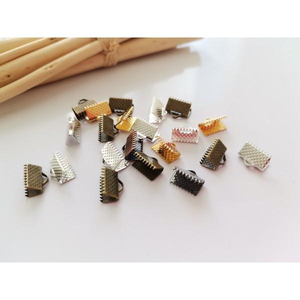 Embouts ruban à griffes 10 mm multicolore x 20 - Photo n°1