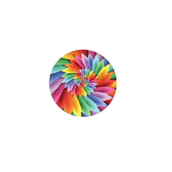 Spiral - Tourbillon 2 Cabochons Multicolore 25mm - Photo n°1