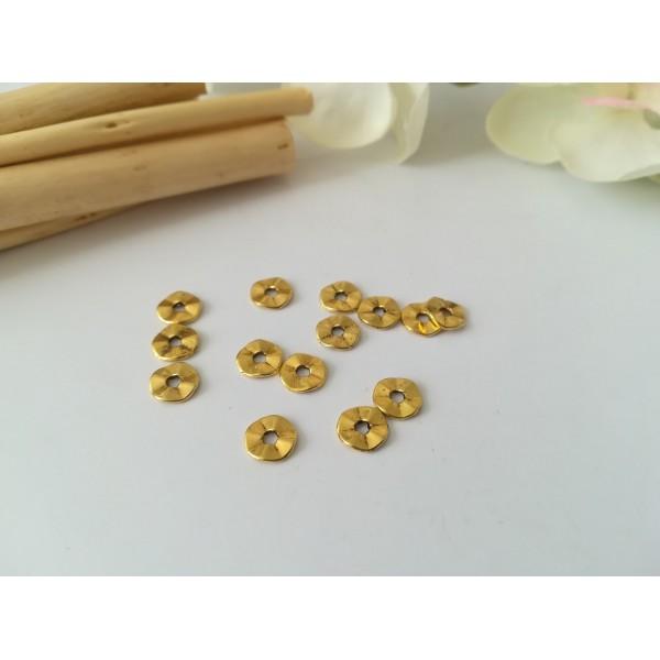 Perles métal intercalaire ondulées 7 mm doré x 20 - Photo n°1
