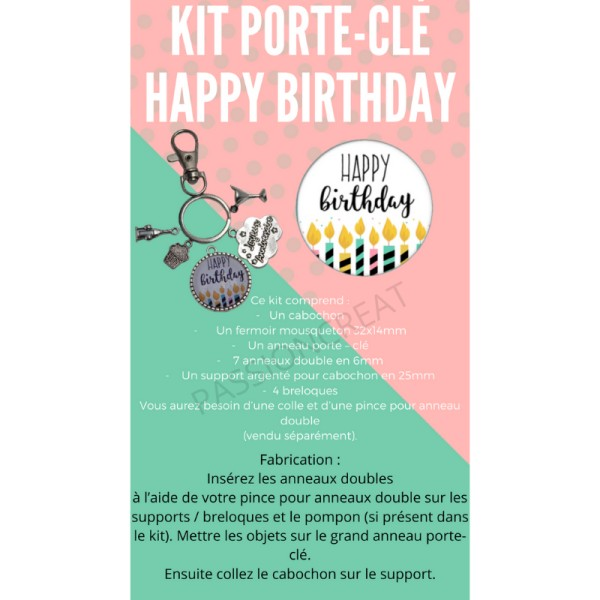 Happy Birthday Kit Porte-Clé - Photo n°1