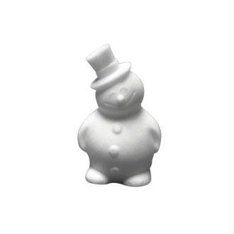 Bonhomme de neige en polystyrène, 17 cm, Styropor à customiser